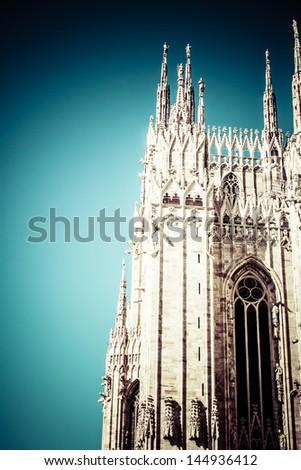 Duomo of Milan, (Milan Cathedral), Italy. - stock photo