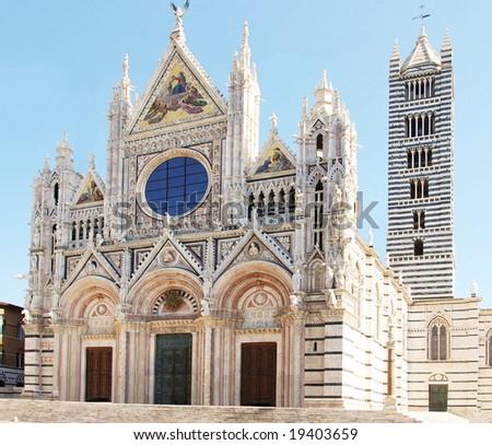 duomo of Siena Tuscany - stock photo