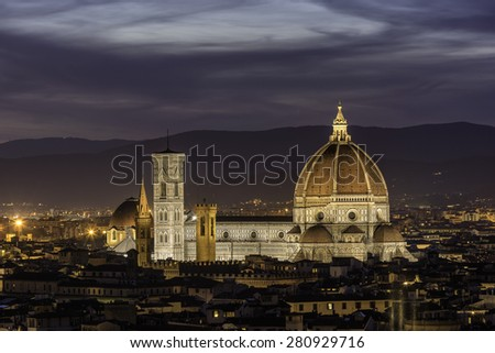 Duomo S Santa Maria Del Fiore in Florence - stock photo