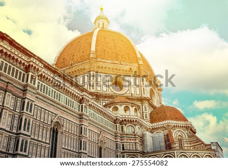 Duomo Santa Maria Del Fiore and Campanile Florence - Italy  - stock photo