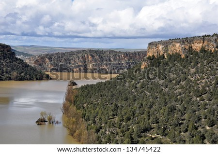 Duraton Canyon Natural Park, in Sepulveda, Spain