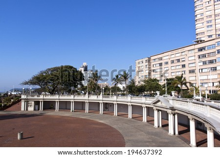 DURBAN, SOUTH AFRICA - MAY 24, 2014: Empty amphitheater  on Golden Mile beachfront in Durban South Africa