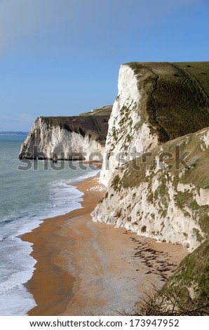 Durdle Door beach, Dorset, United Kingdom The Jurassic coast a UNESCO World Heritage site - stock photo