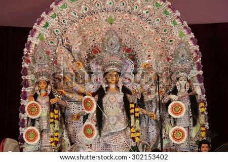 Durga puja  Navrata �¢?? Vacation Bonanza in West Bengal - stock photo