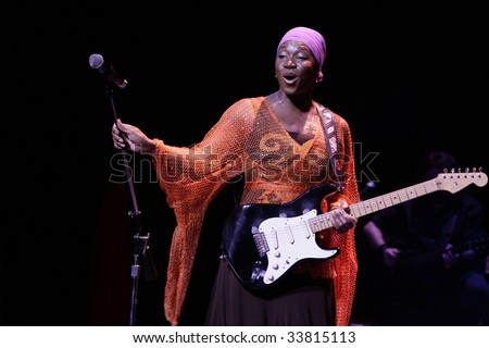DURHAM, NORTH CAROLINA-MAY 10:  singer performs on stage at Durham Performing Arts Center on May 10, 2009 in Durham, North Carolina. - stock photo