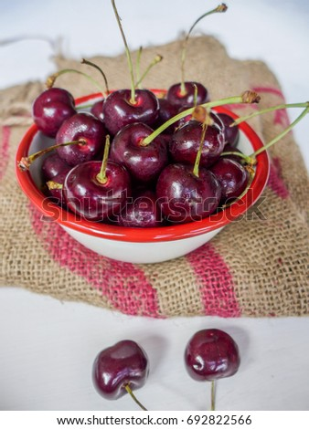 During bumper crop season,large quantity of imported sweet cherries were available at affordable price  / Sweet Cherry / Most popular cherries are from North America and Canada