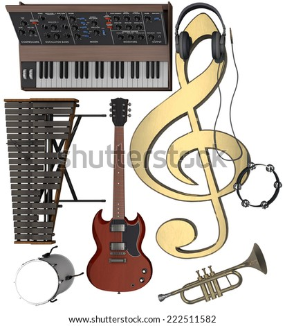 During the performance/Musical Equipment - stock photo