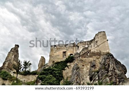 Durnstein Castle, Austria - stock photo