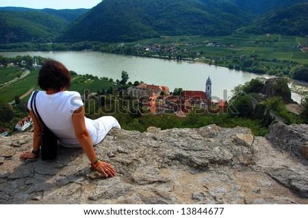 Durnstein - Pearl of Wachau, lower Austria - stock photo