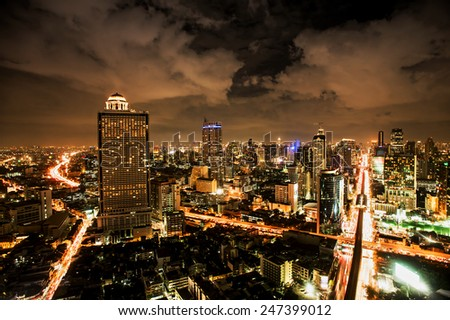 Dusk at the Douro river in cities of Porto and Vila Nova de Gaia in Portugal.,Bangkok Expressway and Highway top view, Thailand