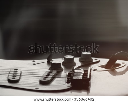 Dust Of Guitar Blues 1970's. - stock photo