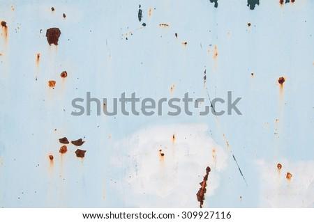 dust on steel door background - stock photo