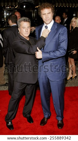 "Dustin Hoffman and Will Ferrell attend the Los Angeles Premiere of ""Stranger Than Fiction"" held at the Mann Village Theatre in Westwood, California, on October 30, 2006.  - stock photo"