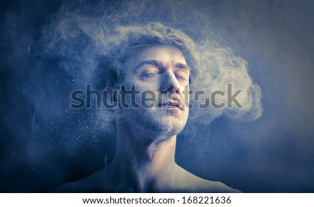 Dusty Man - stock photo