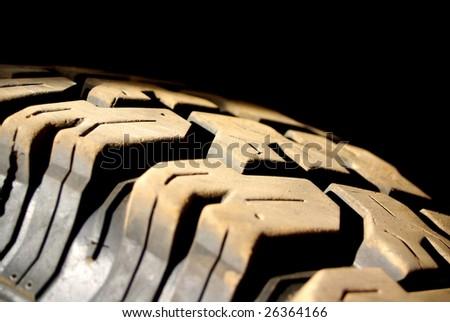 Dusty Tyre Tread - stock photo