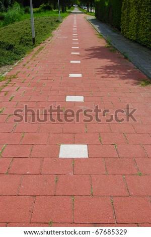Dutch Bike Path - stock photo