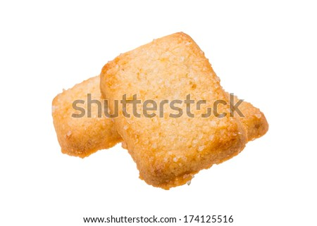 Dutch butter cookies isolated