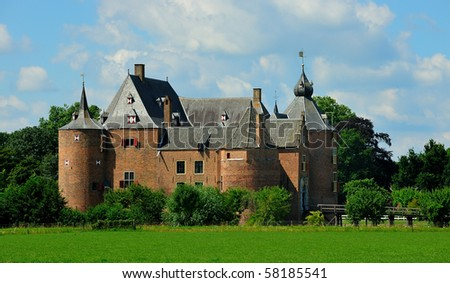 Dutch castle in the netherlands - stock photo