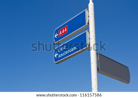 Dutch directional sign - stock photo