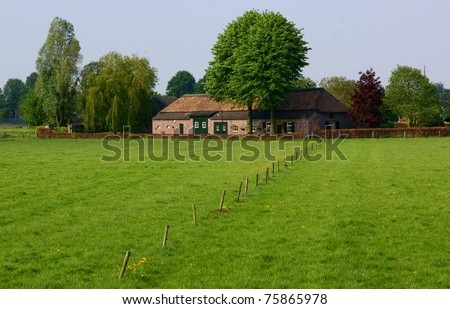 Dutch farmhouse from the 19th century - stock photo