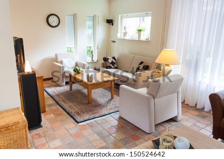 Dutch home interior living room in contemporary style - stock photo
