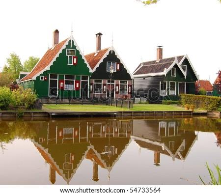 dutch houses - stock photo
