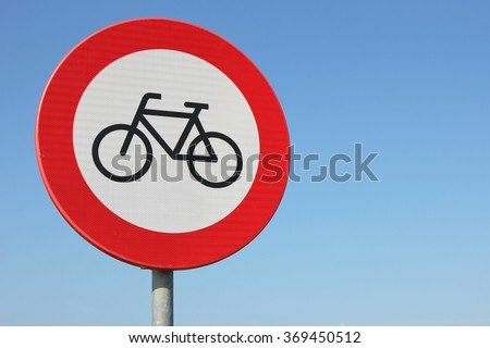 Dutch road sign: no access for bicycles