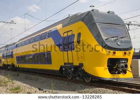 Dutch train - stock photo