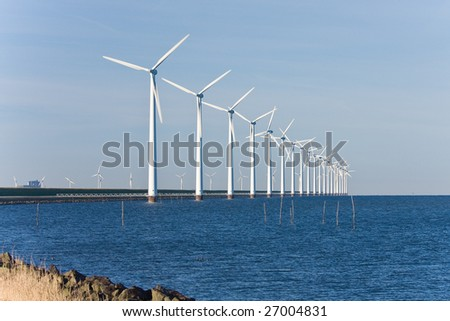 Dutch wind energy - stock photo