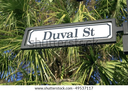 Duval Street, Key West, Florida, USA - stock photo