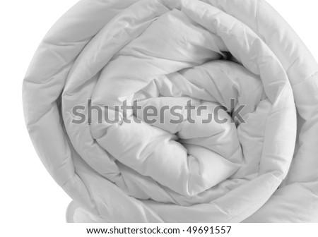 Duvet roll. Isolated - stock photo