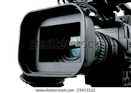DV camcorder - stock photo