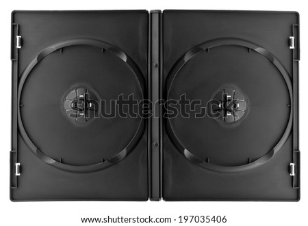 DVD Box for 2 disc isolate on white - stock photo