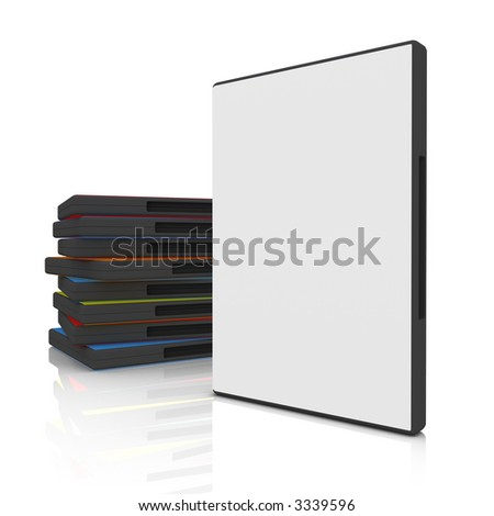 DVD Case - stock photo
