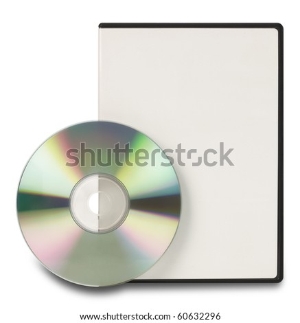 DVD CD Clipping Path - stock photo