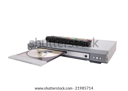 dvd cd mp3 player isolated on a white
