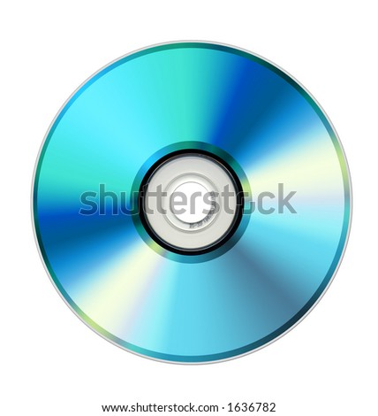 DVD disk on white - stock photo