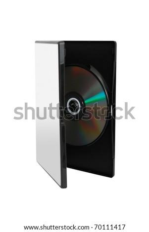 DVD in case - stock photo
