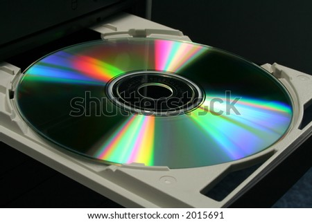 DVD in computer CD-ROM tray