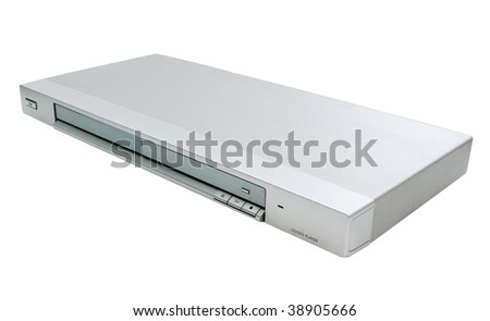 DVD-player isolated on white background