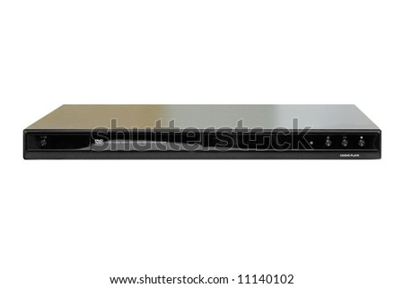 dvd–player on a white background