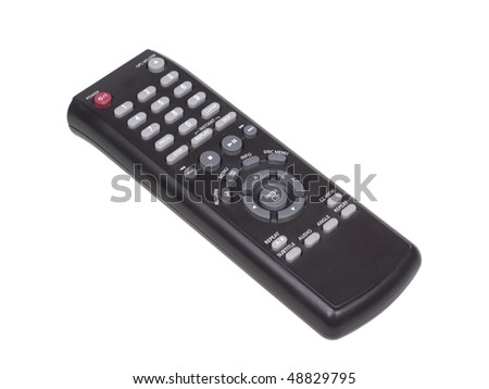 DVD remote control. Isolated object on a white background - stock photo