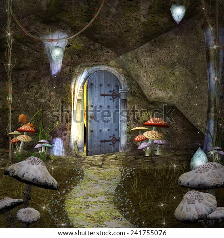 Dwarf's secret house - stock photo