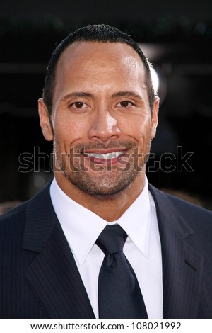 "Dwayne Johnson  at the World Premiere of ""Get Smart"". Mann Village Theatre, Westwood, CA. 06-16-08"