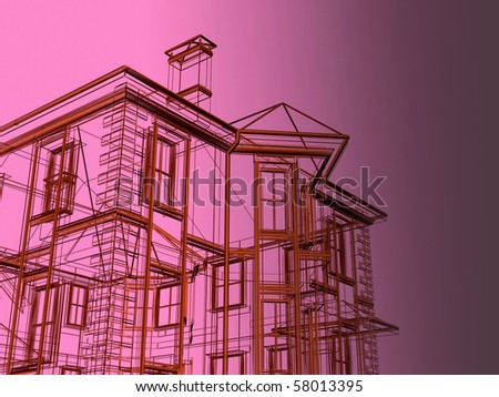 dwelling-house - stock photo