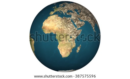 Dying Earth Global Warming Heavy Pollution Affected and Dried Earth Illustration - stock photo