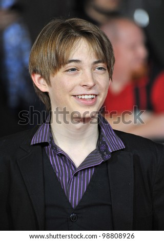 "Dylan Riley Snyder at the world premiere of ""John Carter"" at the Regal Cinemas L.A. Live. February 22, 2012  Los Angeles, CA Picture: Paul Smith / Featureflash - stock photo"