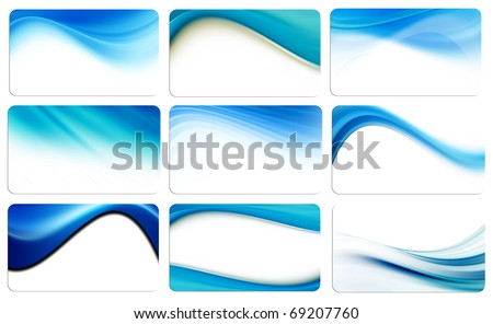 Dynamic blue waves background cards, abstract illustrations, high resolution - stock photo