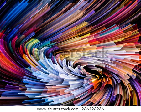 Dynamic Color series. Abstract design made of streams of paint on the subject of forces of nature, art, design and creativity