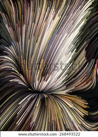Dynamic Color series. Backdrop composed of streams of paint and suitable for use in the projects on forces of nature, art, design and creativity - stock photo